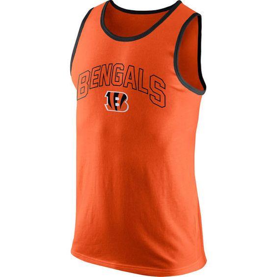 Cincinnati Bengals Nike Arch Logo Orange Mens Tank Top Shirt ...