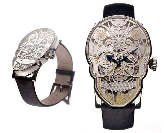 Skull watch: Skeleton Watches, Wear Watches, Watches Sunglasses, Mori Watches01, Memento Mori, Nice Watches, Sugar Skull