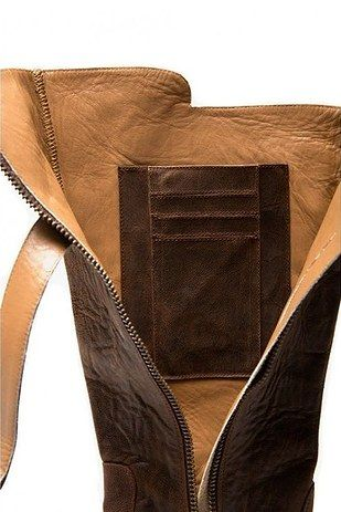 These boots have a hidden pocket for your money and phone! so handy!