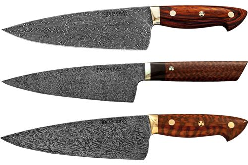 Bob Kramer Knives. I want one of these Damascus steel folded over 500 times one of a kind knives ...