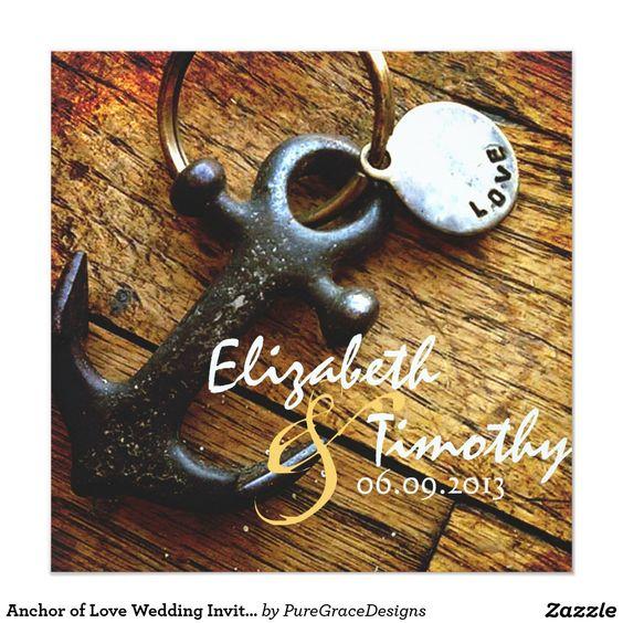 Anchor of Love Wedding Invitation