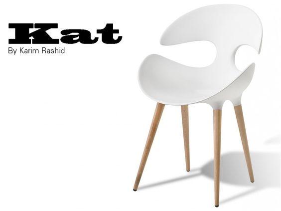 KAT chaise design coque et pied bois
