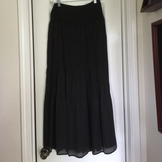 White House Black Market Long Black Skirt | Faldas, Mercado negro ...