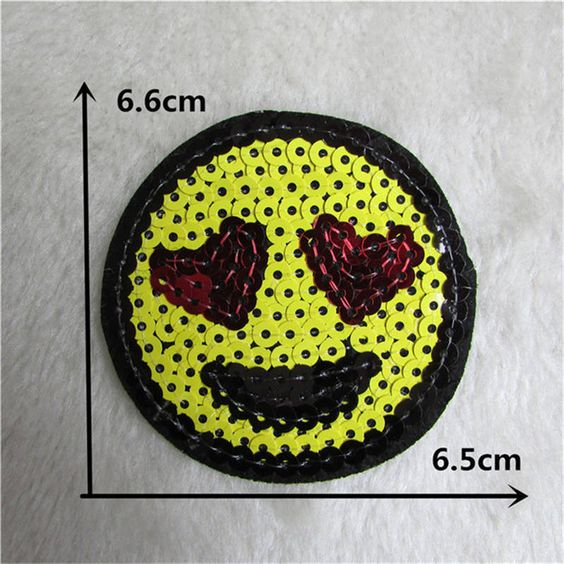 cordial loveliness smiling face patch hot melt adhesive applique embroidery patch DIY clothing accessory 1pcs sell C216-C2018