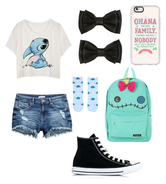 """""""I'll be needing stitches"""" by maia-paulisich on Polyvore featuring Disney, Casetify and Converse"""