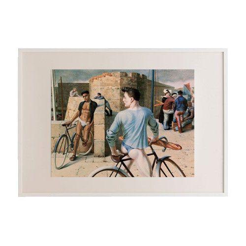 "20 3//4 x 28 3//4 inches artist paUI cadMus:/"" Gay Cruising /"" Wall Picture Framed"