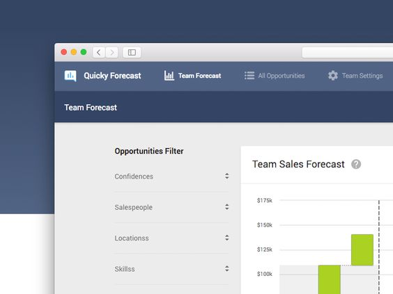 Quicky Forecast Material Design UI Pinterest User interface - sales forecast