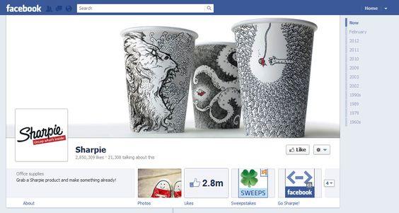 Un Facebook cover que vale la pena seguir de cerca: Sharpie