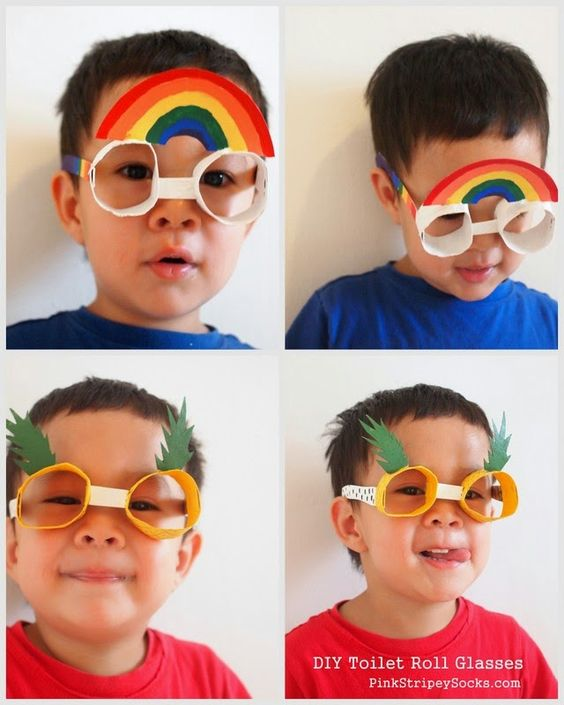 Too cute!! Toilet Paper Roll Glasses. #upcycle #preschool #kidscrafts #efl #education (repinned by Super Simple Songs)
