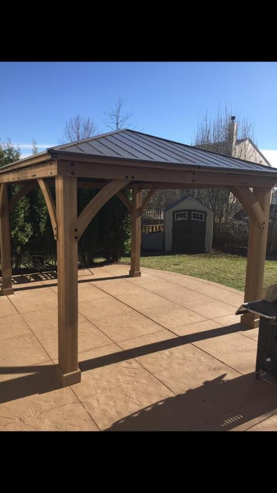 12 X 14 Wood Gazebo With Aluminium Roof In 2020 Gazebo Aluminum Roof Patio Gazebo
