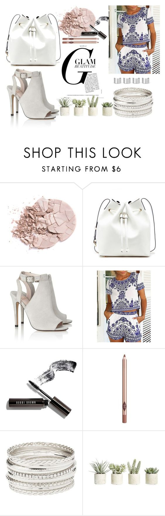 """""""Untitled #19"""" by evita-i-7 ❤ liked on Polyvore featuring Sole Society, Lipsy, Bobbi Brown Cosmetics, Charlotte Tilbury, Charlotte Russe, Allstate Floral and Maison Margiela"""