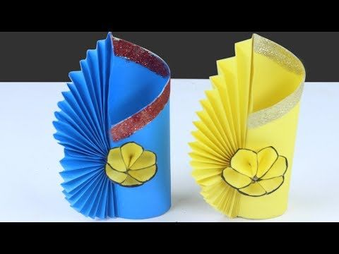 How To Make A Paper Flower Vase - DIY Simple Paper Craft - YouTube | 360x480
