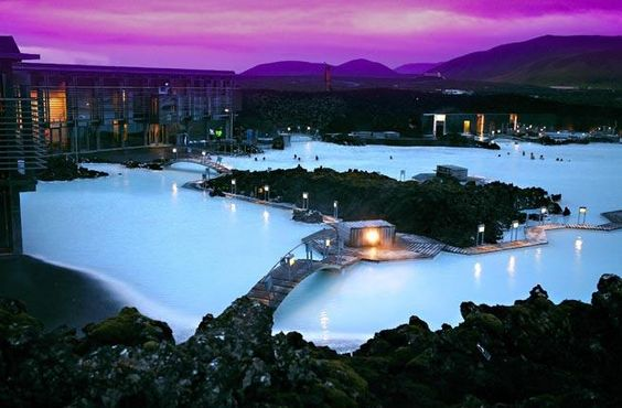 Blue Lagoon in Reykjavik, Iceland - the mother of all thermal spas, the Blue Lagoon still has to be seen to be believed. Steaming, Caribbean-blue seawater fills a manmade lake in a lava field outside Reykjavik.
