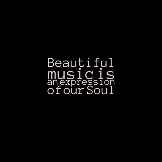Beautiful music is an expression of our Soul Visit http://readmysongreadmysoul.com