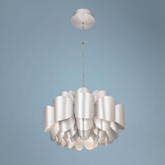 possini euro design aluminum lotus pendant light - Possini Euro Design