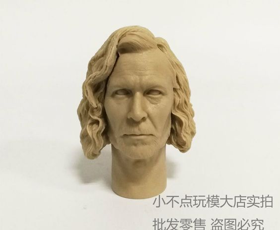 1//6 scale ISirius Orion Black head sculpt Harry Potter Gary Oldman unpainted