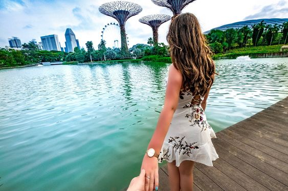 Gardens by the Bay, Singapore photos - Supertrees by Dragonfly Lake