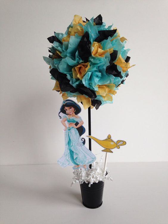 Princess jasmine birthday party decoration centerpiece for Aladdin decoration ideas