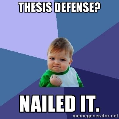 Dissertation defense party