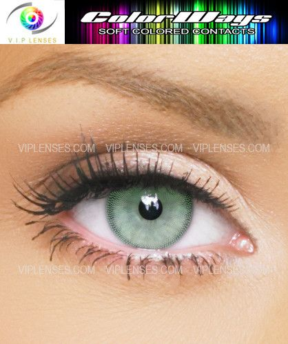 Colorways Tea Green Colored Contact Lenses - If you have light eyes or dark eyes you can rest assured Colorways Tea Green Contact Lenses will add colour to your eyes with the best results. #eye #color #contacts Soft Green Colored Contacts