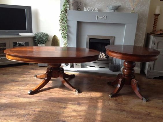 Beautiful Solid Wood Coffee Table and Matching Side Table ~ For Sale in…