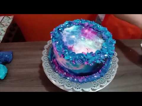 Bolo Galaxia Chantininho E Papel Arroz Youtube Bolo Papel