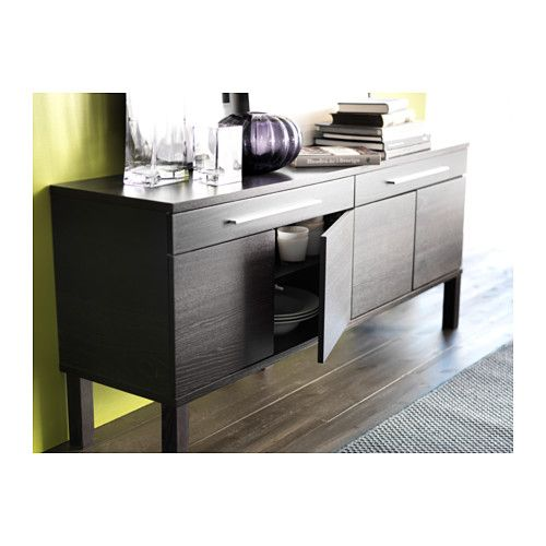 bjursta sideboard brown the doors window and brown. Black Bedroom Furniture Sets. Home Design Ideas