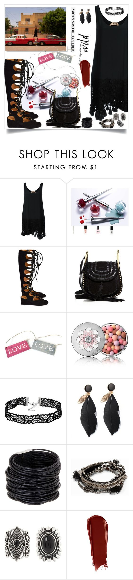 """""""..."""" by hani-bgd ❤ liked on Polyvore featuring White Label, N°21, Chloé, Guerlain, Saachi, Thomas Sabo, Pieces, New Look and NARS Cosmetics"""