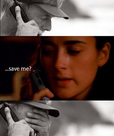 """GIBBS Ziva, look, I'm retired. I'm 3,000 miles away. What do you think I can do that they can't do? ZIVA Honestly, I don't know. I was hoping maybe…save me? - I love how Gibbs comes back to save his """" daughter"""" <3"""
