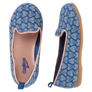 OshKosh Heart Print Loafers