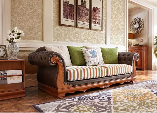 Hot Item Latest Fabric Sofa Set Living Room Furniture Pictures Of