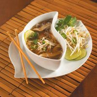 Got a cold? Try some flavorful, warming pho. This recipe uses both beef shanks and chicken!
