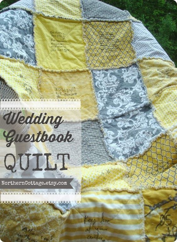 {Wedding Guestbook QUILT} - a unique alternative to a traditional guestbook - surrounded by the love ♥ of a special day for years to come!