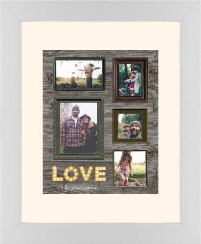 Photo Real Love Framed Print, White, Contemporary, None, Cream, Single piece, 8 x 10 inches, Brown