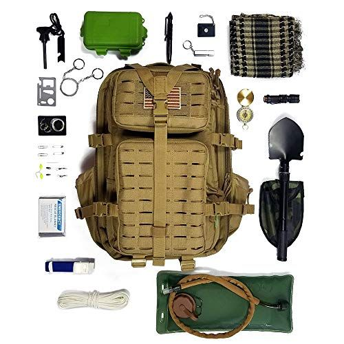 Badass 26-in-1 Survival Backpack Filled with Gear | Survival backpack,  Tactical backpack, Tactical sling bag