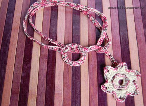 Collana/ cintura uncinetto- stargate rosa: Uncinetto Stargate, Uncinetto Bijoux, Stargate Multicolore, Collana Cintura, Cintura Uncinetto, Joyería Crochet, Stargate Rosa