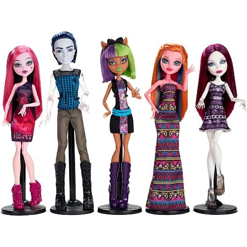 Monster High™ Cleo de Nile™ Doll with Dessert-Themed Dress and Hairpiece View Wishlist MONSTER HIGH® Great Scarrier Reef Glowsome Ghoulfish™ Toralei® Doll.