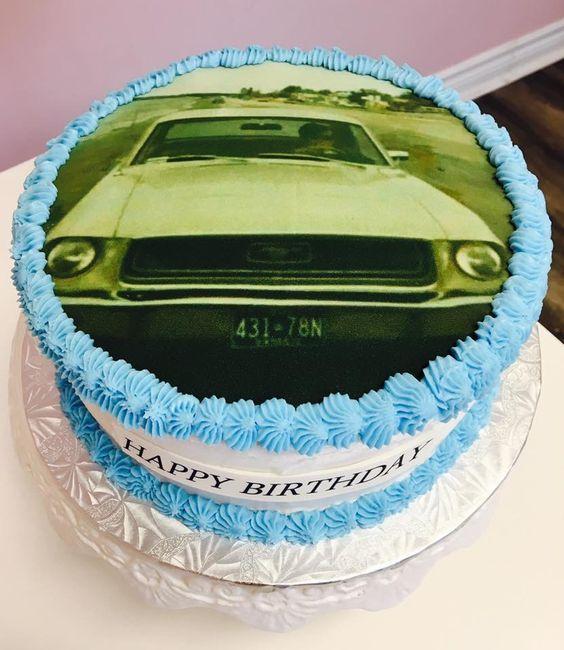 Edible Image Birthday Cake #ClassicCar #DvasCakes #Cambridge