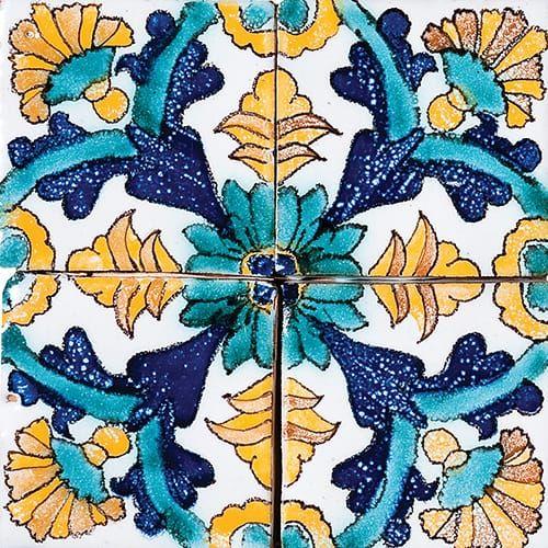 Ma12 Glazed Ceramic Tiles 6x6 Country Floors Of America Llc In 2020 Glazed Ceramic Tile Ceramic Tiles Handcrafted Tile