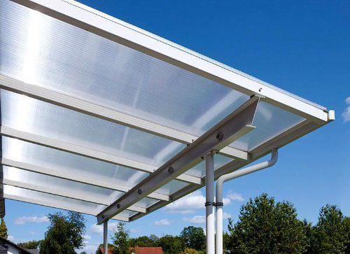 Überdachung Terrasse Bausatz 5x3m Stegplatten und Profile für Unterkonstruktion (bronze): Amazon.de: Garten