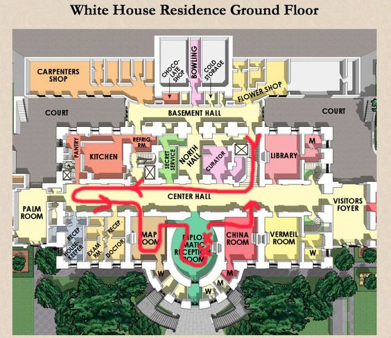 Delightful Residence Ground Floor Plan | The White House | Pinterest | White Houses,  House And History