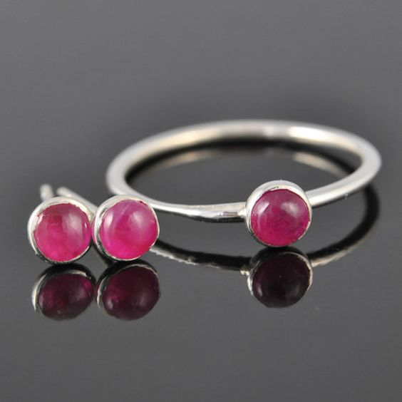 Ruby ring bridesmaid Ring bridesmaid gift by JubileJewel on Etsy, $80.00