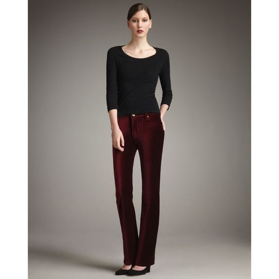 Christopher Blue Women's Goodwin Boot-Cut Velvet Pants - Red