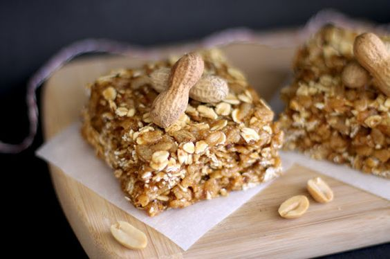 Healthy Peanut Butter Butterscotch Granola Squares