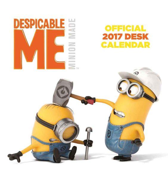 Despicable Me Minion Made Easel Calendar 2017