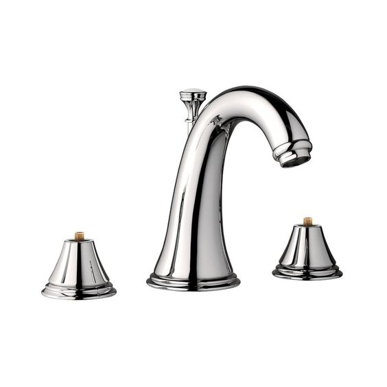 GROHE Geneva 8 in. Widespread 2-Handle 1.2 GPM Bathroom Faucet in Polished Nickel InfinityFinish