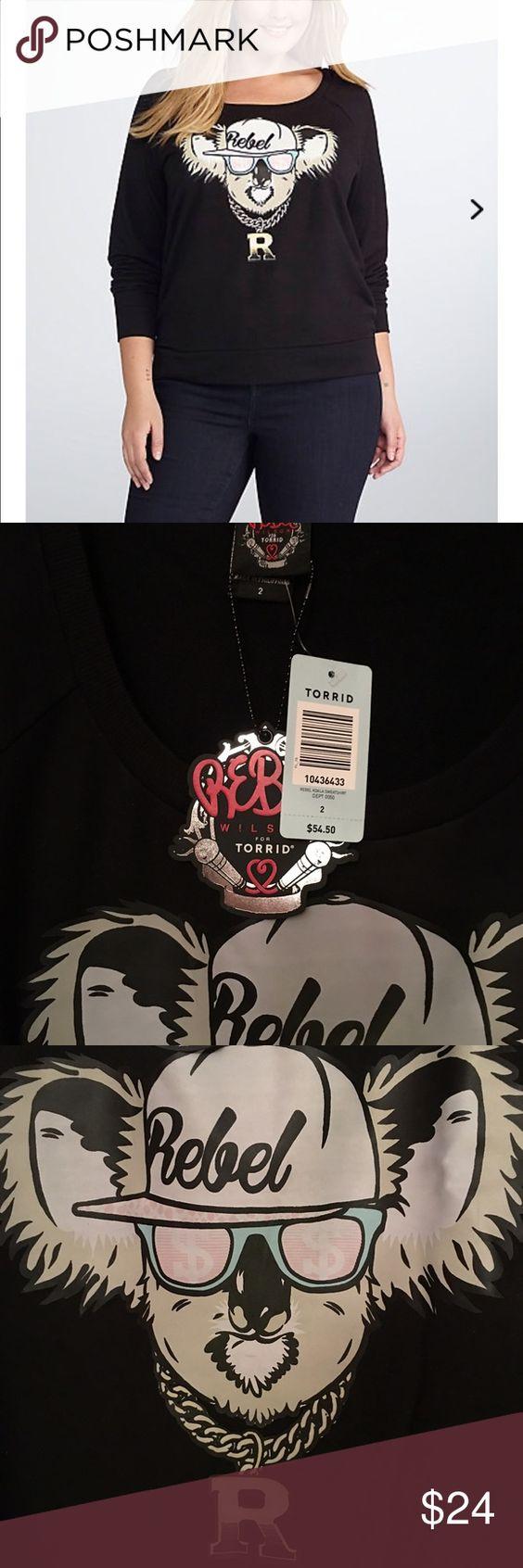 Rebel Wilson Koala Sweatshirt, NWT, Size 2X NWT, Cute graphic sweatshirt, Size 2X torrid Tops Sweatshirts & Hoodies