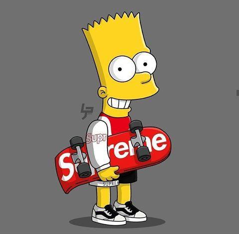 Bart Simpson Supreme Wallpaper In 2021 Simpsons Art Bart Simpson Art Bart Simpson