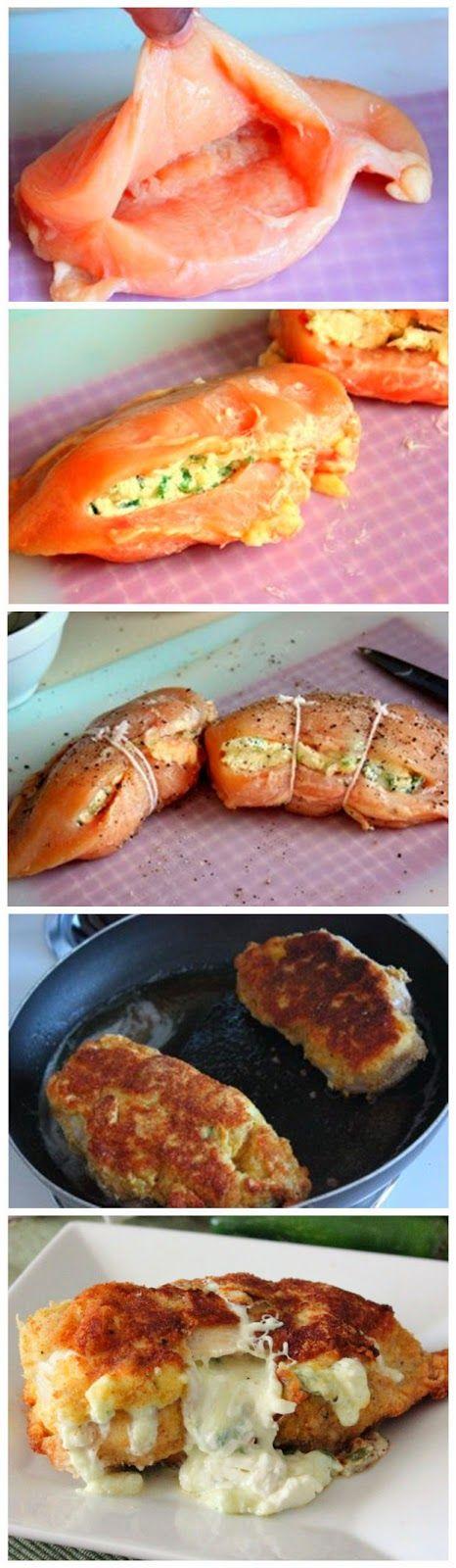 Jalapeno Popper Stuffed Chicken Breasts -  Use baking blend for breadcrumbs