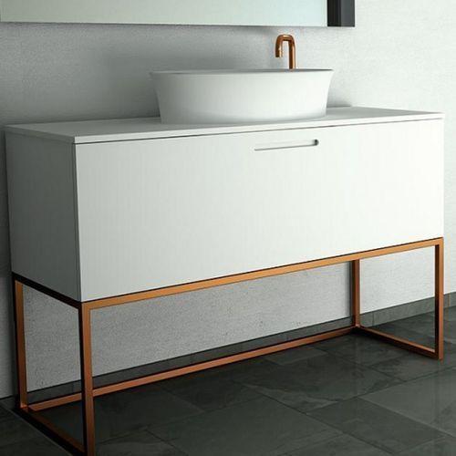 Waschtisch Unterschrank Mdf Freistehend Metall Modern
